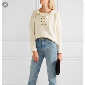 Madewell lace up sweater